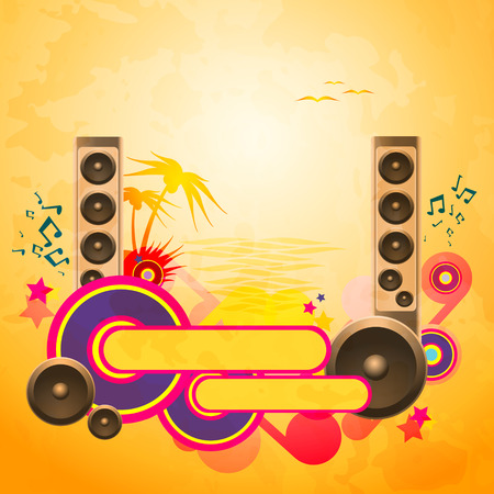 Disco Dance Tropical Music Background Illustration