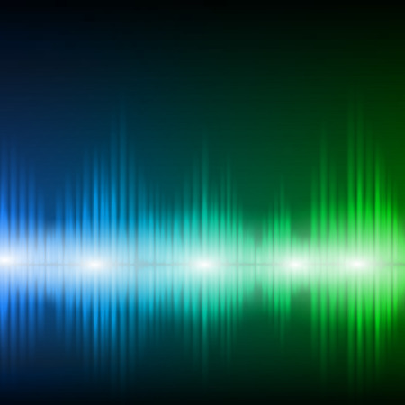 sound wave: Abstract equalizer background. Blue-green wave.