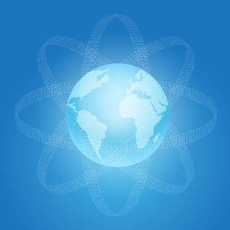 Internet and World concept symbol.   Vector