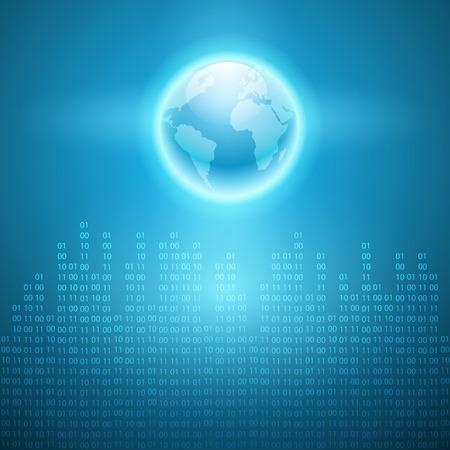 cripta: Flusso di codice binario per il mondo.