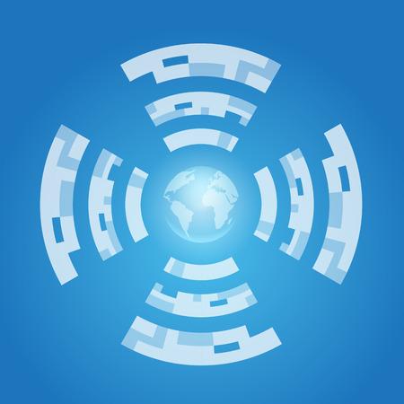 Internet and World symbol.  Vector