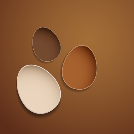 Abstract chocolate easter eggs.  Vector