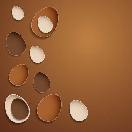 Abstract chocolate easter eggs  Vector
