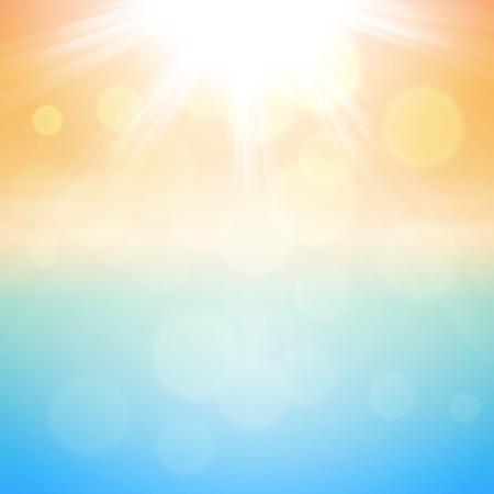 Sunny summer background.  Ilustração