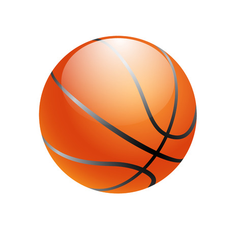 basketball ball isolated on white background.  Vector