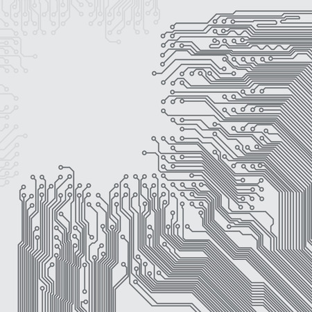 Abstract background with a circuit board texture.   Vector