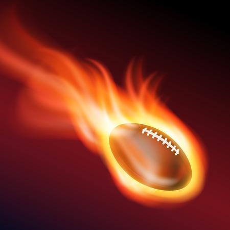 Burning football Vector