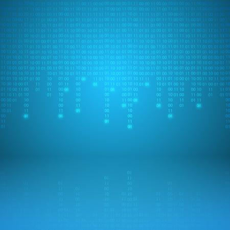 electronic background: Stream of binary code