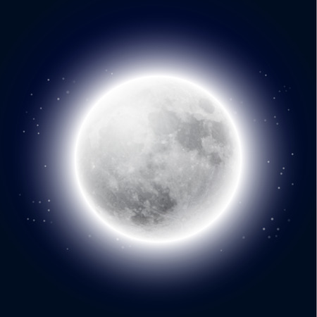 Luna Llena en el cielo nocturno.