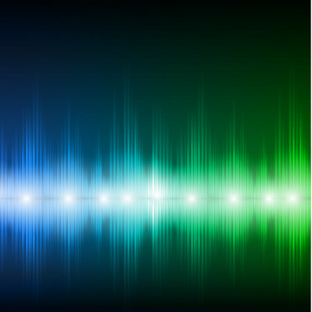 bluegreen: Abstract equalizer background. Blue-green wave.