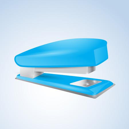 Blue stapler. Vector