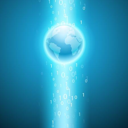 cripta: Flusso di codice binario per il globo.