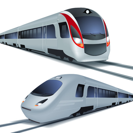 Modern high speed trains Stock Vector - 31604078