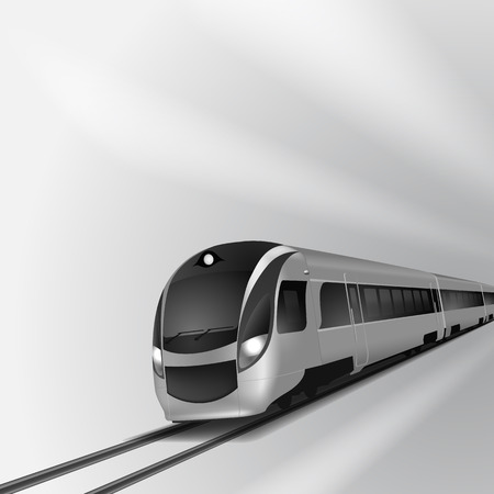 high speed: Modern high speed train 2. EPS10 vector. Illustration