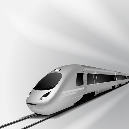 treno espresso: Modern ad alta velocit� ferroviaria Vettoriali