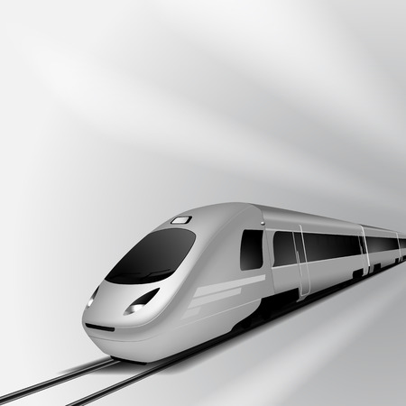 Modern high speed train Stock Vector - 31675981