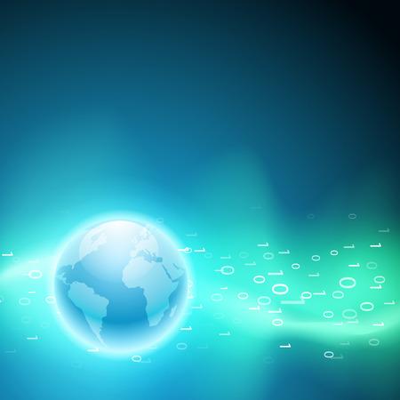 programme: Secuencia de c�digo binario para el mundo. Fondo de vector de EPS10.