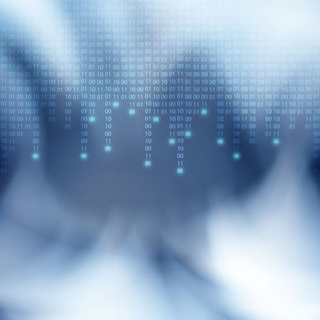 Abstract binary code background. Matrix style.  Illustration