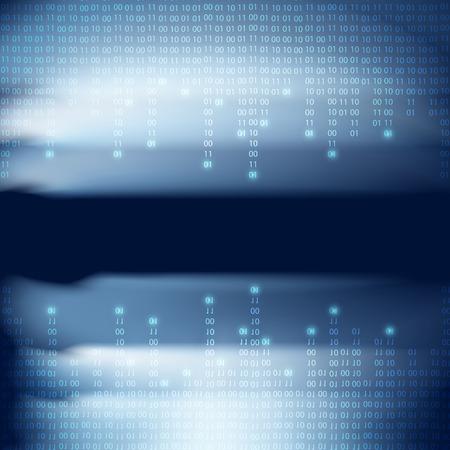 byte: Abstract binary code background. Matrix style.  Illustration