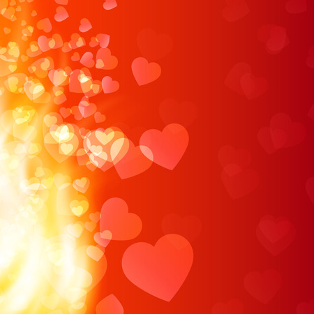red love heart with flames: Abstract background flame and hearts. EPS10 vector. Illustration