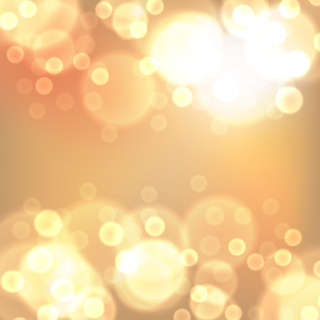lights background: Gold christmas lights background. EPS10 vector.