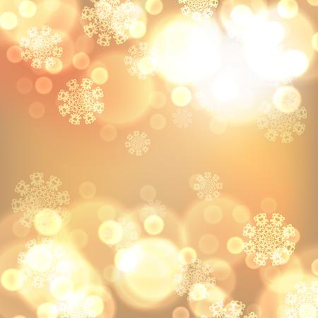 ゴールドのクリスマス ライトの背景。EPS10 ベクトル。