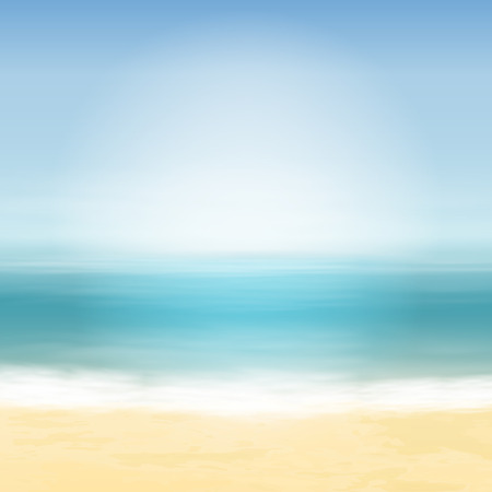 sand beach: Beach and blue sea. Tropical background. EPS10 vector.