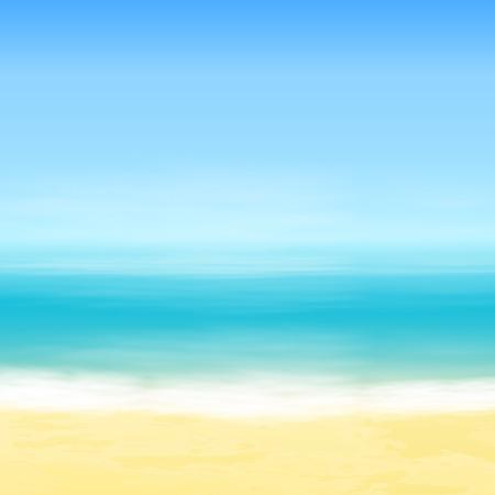Beach and blue sea. Tropical background.  Vettoriali
