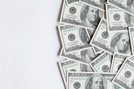 돈 미국 100 달러 지폐와 배경