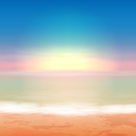 eps10 vector: Beautiful sea sunset. EPS10 vector. Illustration