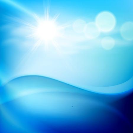 wasserwelle: Wasserwelle in sonnigen Tag. EPS10-Vektor.