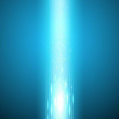 eps10 vector background: Stream of binary code. EPS10 vector background.