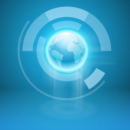 globe terrestre: Résumé de fond avec le monde entier. Vecteur EPS10.