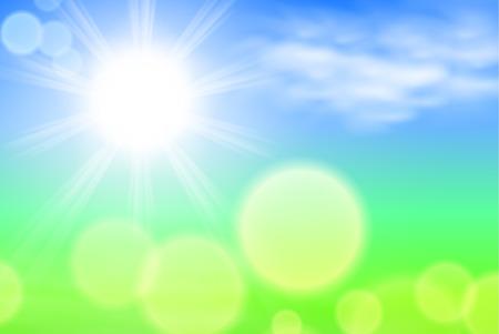 sunshine background: Summer sunshine background. EPS10 vector.