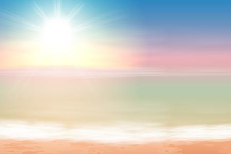 Beautiful sea sunset. EPS10 vector. Ilustrace
