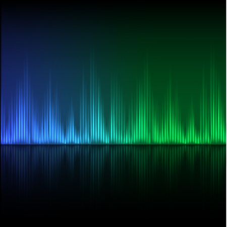 Abstract equalizer background. Blue-green wave. EPS10 vector. Vector