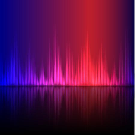 Abstract equalizer background. Blue-Purple wave. EPS10 vector. Ilustração