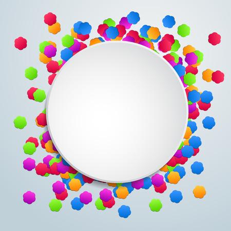 celebration background: Colorful celebration background with flower confetti.