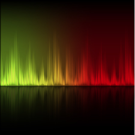 volume glow light: Abstract equalizer background