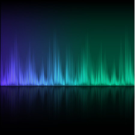 bluegreen: Abstract equalizer background. Blue-green wave Illustration