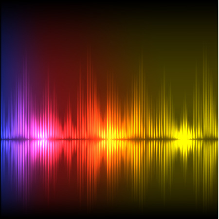 volume glow light: Abstract equalizer background. Purple-red-yellow wave