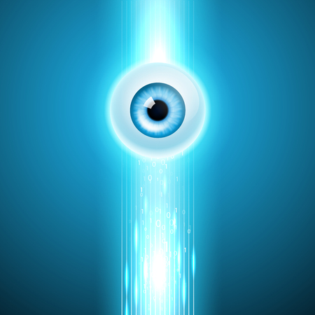 Abstract background with eye Stok Fotoğraf - 47170417