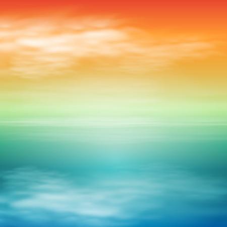 Sea sunset. Tropical background Illustration