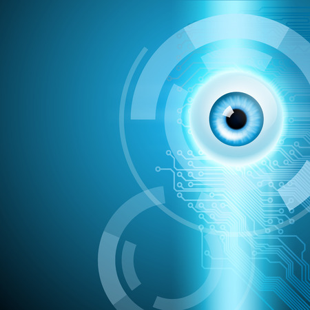 目、回路の抽象的な背景