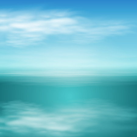reverberation: Sea landscape in sunny day