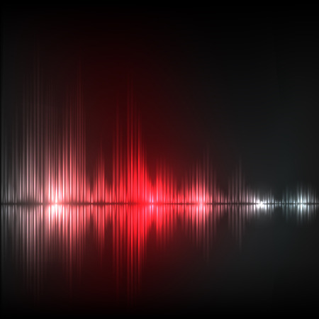 red wave: Abstract equalizer background. Red wave. EPS10 vector. Illustration