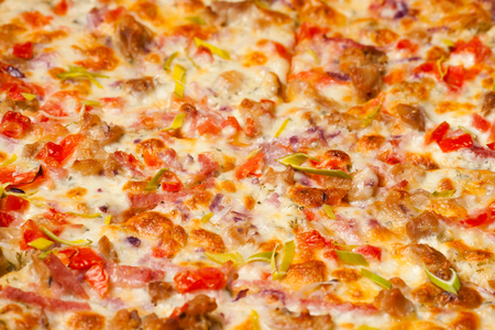 toppings: Tasty Ranch pizza toppings background