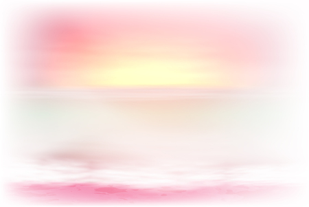 horizon over water: Beautiful purple sea sunset. vector.