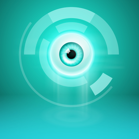 Abstract background with eye. For your business design. EPS10 vector.