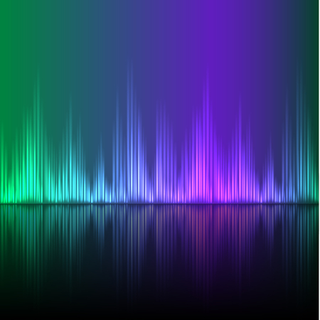 Abstract equalizer background. Green-Purple wave. EPS10 vector. Illustration